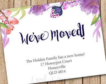 Printable Moving Announcement {customised}