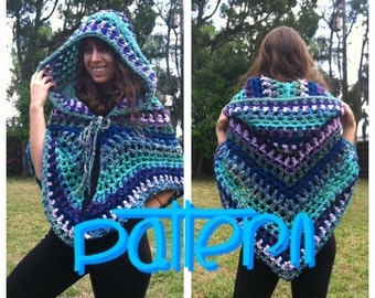 PATTERN: Funky Hooded Shawl