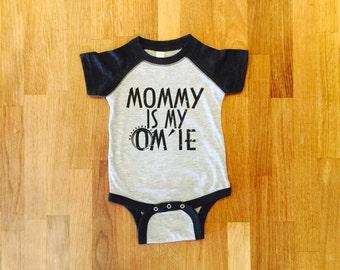NEW! Mommy is My OM'IE, Onesie, Baby Yoga, Bodysuit, Yogini, Yoga Gift, Boy or Girl
