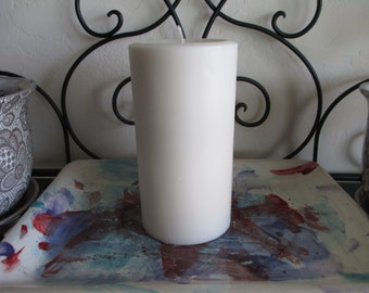 "3x6"" Round Soy Wax Pillar Candle"