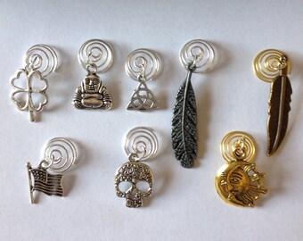 Beard Art Baubles Beard Spiral Choice of One Beard Ornament Design Beard Bling