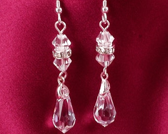 Pretty Sparkly Bridal Earrings made with Crystals & Diamante  made with CRYSTALLIZED™ - Swarovski Elements