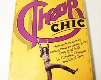 Cheap Chic Book 1975 1st Edition.  RARE.  Fashion/menswear/womenswear.