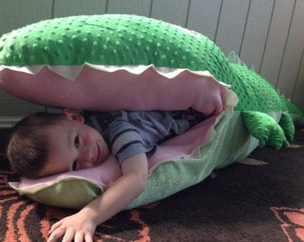 Giant stuffed animal with pouch. Kids sleeping bag