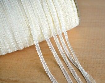 Lace Trim White Beige Dots Gauze Embroidery Lace Fabric Wedding Trim 3 yards
