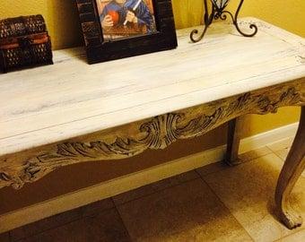 Vintage Distressed Hall Table