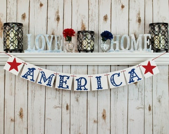 4TH OF JULY Banner / MEMORIAL Day / Fourth of July / Summer / Patriotic / Military / Decoration / Banners / Summertime / Fourth of July /
