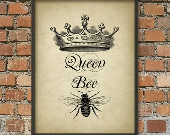 Queen Bee Wall Art Poster 2