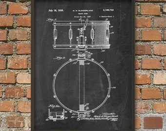 Snare Drum Patent Wall Art Poster #2