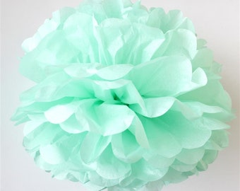 MINT tissue paper pom pom - Large/medium/small size - handmade - lots of colours to choose from