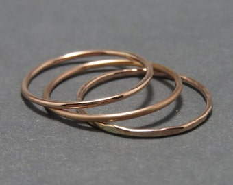 1 Rose Gold Filled Stackable Ring. 18 gauge 14K Rose Gold Filled  Stackable Ring.