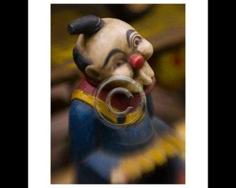 Clown,Inkjet print 7x9 image on 11x14 archival paper