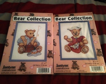 Bear collection cross stitch kits