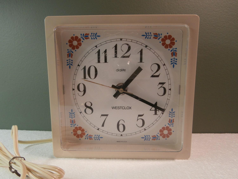 Vintage electric kitchen wall clock kitchen clock vintage - Small kitchen clock for wall ...