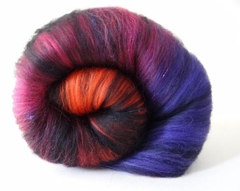 Spinning Batts Merino Silk Sprinkles Batt 103g (3.6oz): SHAZAMM!