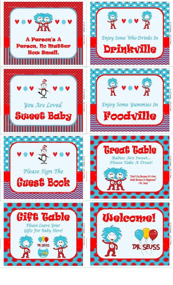 dr seuss baby shower signs printable dr seuss sign baby shower sign