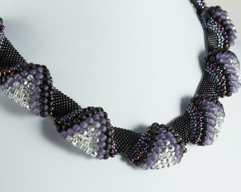 Black and Purple Peyote Choker