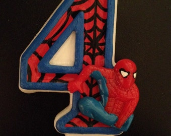 Spiderman Inspired Birthday Candle