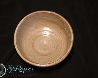 Handmade Lizella Earthenware Bowl; Army Veteran