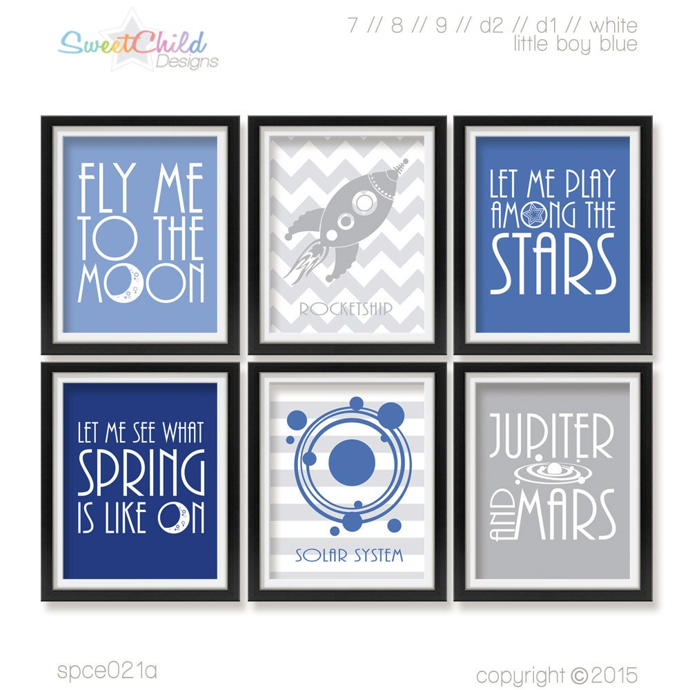 Outer space nursery decor baby spaceship by for Decor outer space