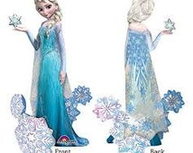 "57"" Disney Frozen Airwalker Foil Balloon birthday party supplies HUGE movie tv show decorations Anna olaf elsa"