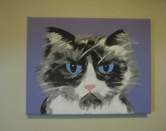 Purple Grumpy Cat
