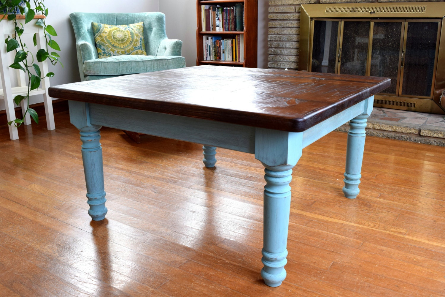 Rustic coffee table farmhouse coffee table solid wood Farmhouse coffee tables