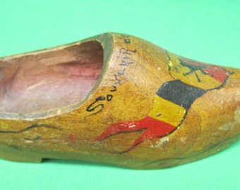 Wooden Shoe Souvenir Of Belgium 1945
