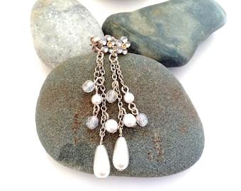 Long Pearl Earrings - Vintage