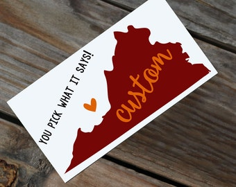 ANY WORD! Virginia Decal