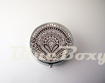 Vintage Pattern Pill Case, Pill Box, Pill Holder