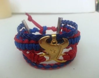 Huston Texans football 4 in one  para cord infinity bracelet !