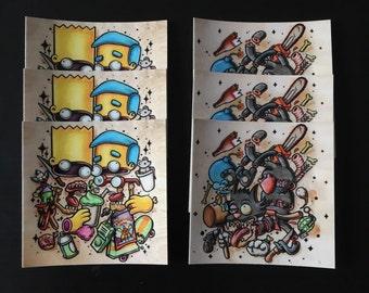 Simpsons sticker combo - 2 styles