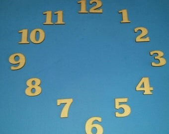 "Clock numbers 1"" tall"