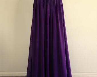 Purple maxi skirt | Etsy