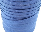 5/8 Navy blue fold over elastic, FOE for diy hair ties, Wholesale elastic, Baby headband elastic, Navy elastic by the yard for Yoga ties