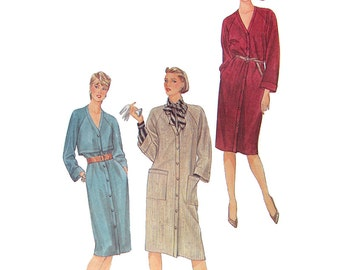 Simplicity Sewing Pattern 6539 Misses' Loose fitting Coat Dress Size:  10  Uncut