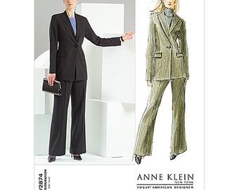 Vogue Sewing Pattern V2874 Misses' Jacket, Pants Size:  B  8-10-12  Uncut