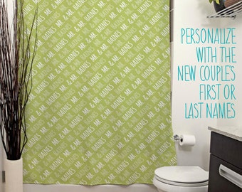 Mr and Mr Personalized Shower Curtain. 14 Colors Avail. Customized Wedding Gift, Groom, Same-Sex Marriage, Newlywed, Housewarming Gift, Bath