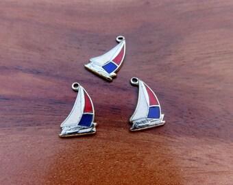 Vintage Sail Boat Sailing Charm QTY 1