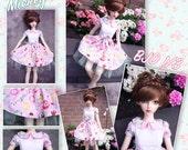 BJD SD 1/3 Kawaii Mickey pastels lolita dress