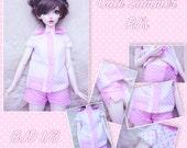 BJD SD 1/3 Cute summer pink polka dots pyjama pj's
