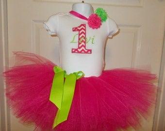 First Birthday Tutu Set, Baby Girl  First Birthday Outfits, Girl First Birthday Outfit, Number One Tutu Sets, Number 2 Tutu Sets