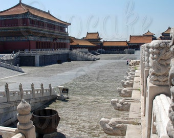 View of the Forbidden City - Beijing, China -- Choose your Size