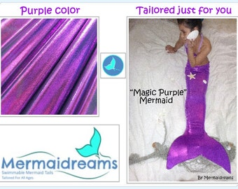 Swimmable Mermaid Tail handmade by Mermaidreams. Variety of colors. Tailored just for you.