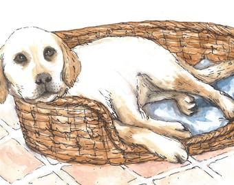 Custom Dog Watercolour Portrait