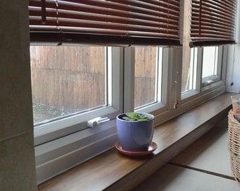 Hand Made Oak Window Sill shelf Like, your own length and 12 cm wide!