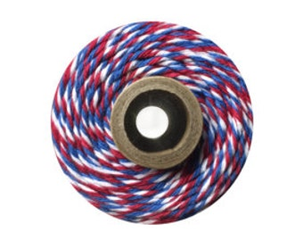 10 yards/ 9.144 m Red White and Blue Bakers Twine, Patriotic Twine, 4th of July, Summer