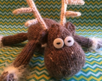 "PDF knitting pattern ""Forrest the Moose-Deer"""