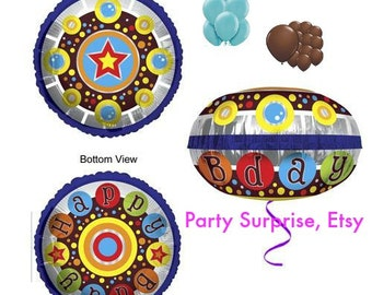 UFO Aliens Balloon Package 23 balloons, Alien Party Balloons, New UFO Flying Saucer Balloons, Kids Party Balloons,
